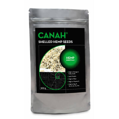 CANAH BIO Hántolt Kendermag 500 g