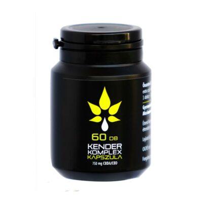 Kender Komplex Teljes Spektrumú Nyers Lágyzselatin CBDA / CBD Kapszula 60 Db - 750 Mg